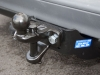Ball and pin hitch on flange towbar