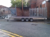 Tri-axle braked flatbed trailer