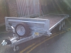 Flatbed braked tri-axled trailer