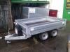Twin axle dropside braked trailer.